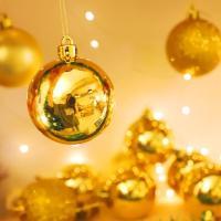 크리스마스 장식볼 오너먼트 5cm 16입 (골드)