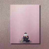 동주를 방해하는 고양이 베이비 핑크 메모지 떡메모지