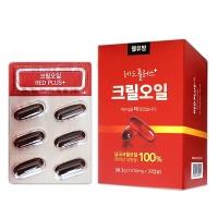 웰유팜 레드플러스 100% 크릴오일 1010mg 30정