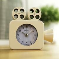 영사기 알람 탁상시계 (아이보리) 시계 추카추카넷