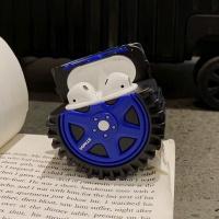에어팟1/2 타이어 실리콘케이스 철가루스티커_블루334