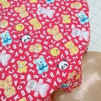 패턴시리즈 - 루미와 곰돌이인형 (Red, 110X90cm)