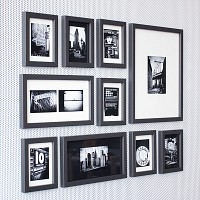 포토월 갤러리프레임 10P세트 - Cool Gray
