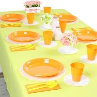 파티테이블셋팅패키지(10인용)-라임그린&오렌지