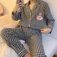 체크무늬 남방파자마 여성잠옷 세트 CH1506939
