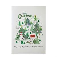 크리스마스카드/성탄절/트리/산타 x-mas 크리스마스 숲 card (FS201-4)