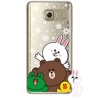 [SG DESIGN] Galaxy Note5 라인프렌즈 SNOW TOGETHER LIGHT UP Case - GOLD(하드타입/라이팅)