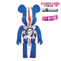 [KINKI ROBOT] 섹스피스톨즈 베어브릭 1000% BEARBRICK SEXPISTOLS GOD SAVE THE QUEEN CLEAR VER (1610011)