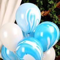 30cm 마블 풍선(5개입) 블루