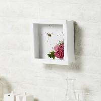 [시들지 않는 영원함 프리저브드 플라워] 화이트 뉴욕 핑크시계 M
