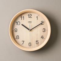 오리엔트 무소음 OT839 브라운 우든 인테리어벽시계