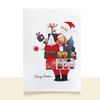크리스마스카드/성탄절/트리/산타 산타의 선물 FS1022-1