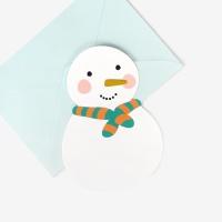 [인디고샵] [금박] 메리스노우맨 캐릭터 카드