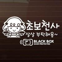 SET_큐피트_초보천사_살살부탁해용+블랙박스 [자동차스티커/초보운전스티커]