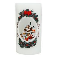 [adico]크리스마스 LED 캔들 - 산타클로스
