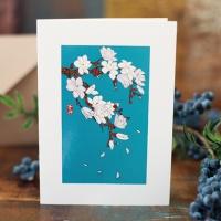 카드/축하카드/감사카드/연하장 꽃잎 흩날리며 FT214-6