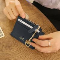 D.LAB Coin simple card wallet  - Navy