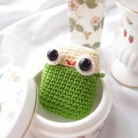 개구리 왕눈이 에어팟 손뜨개 케이스 (2컬러)