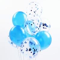 심플리 컨페티 풍선세트(10개입)-블루