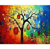 DIY 명화그리기 - DIY 행복을주는나무 (G345) 40x50 그림 (유화/그림그리기/직접그리기/아크릴/취미/색칠)