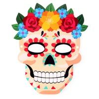 [인디고샵]   할로윈 멕시칸 해골 가면