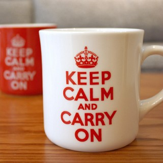 Keep Calm 머그 - 화이트