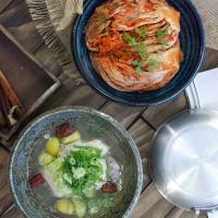 일본식기 오모루 도자기 볼