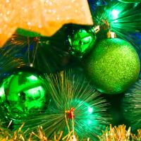 크리스마스 장식볼 오너먼트 8cm 8입 (그린)