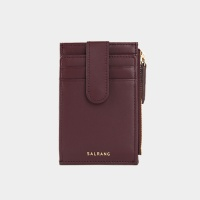 Dijon 201S Flap mini Card Wallet burgundy 디종 플랩 미니월렛 버건디