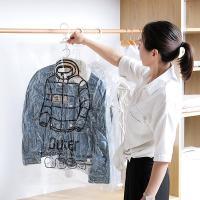 의류수납 위생 방습 옷걸이형 진공 압축팩 Outer ZIP
