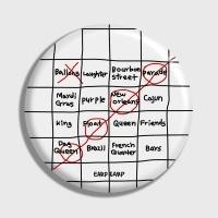 [어프어프] 손거울 Four bingo-white