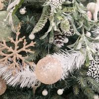 크리스마스 장식 미니 흰색 가랜드