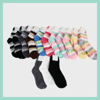 [프리미엄] 줄무늬 수면양말 수면 스니커즈 겨울양말