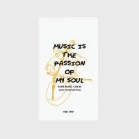 [어프어프] 보조배터리 Music is my soul-white