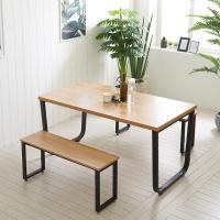 스틸뷰 1500식탁 각진프레임 테이블