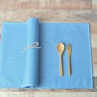 소프트체크 방수식탁매트(블루)