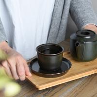 킨토 LT 컵&소서(블랙) 160ml