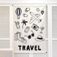 여행 일러스트 패브릭 포스터 / 가리개 커튼