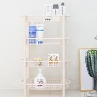[4단 메쉬 사각]예쁜 욕실수납/주방선반/수납/선반