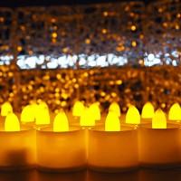 LED 티라이트캔들 24개입(황색)