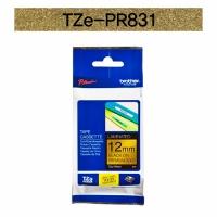 브라더정품 라벨테이프 TZe-PR831(12mm x 4M) (프리미엄골드바탕/검은색글씨)