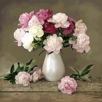 [DIY명화]Q3085 꽃정물화 size50*40cm
