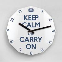 리플렉스 KEEP CALM AND CARRY ON 12각 무소음벽시계 KP12BL