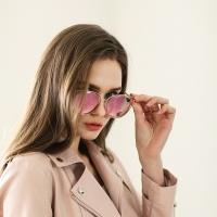 GLEAM RT-83 C3 핑크 미러 패션선글라스 편광렌즈