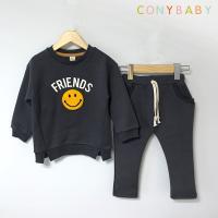 [CONY]프렌즈스마일 기모맨투맨 상하복세트(챠콜)