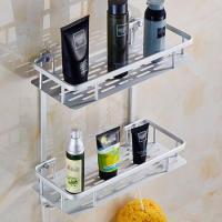 (와인앤쿡)알루미늄 2단 욕실 사각선반 1개