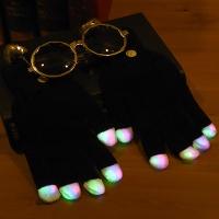LED장갑 블랙 [3색점등]
