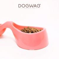[도그웨그 DOGWAG] 더블 리본모양 강아지 밥그릇