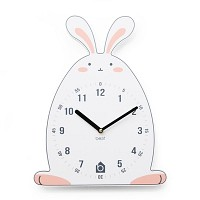 [BEZIT] WITTY RABBIT Wall Clock(무소음벽시계)