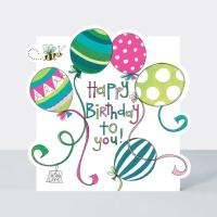 생일 축하 풍선 카드 [CLOUD2]